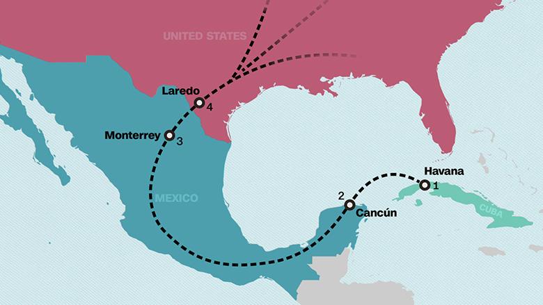 map baseball smuggling