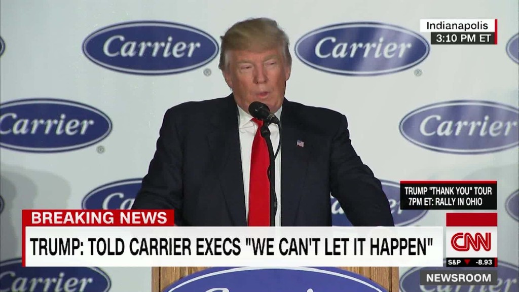 Trump claims victory at Carrier, but critics aren't so sure