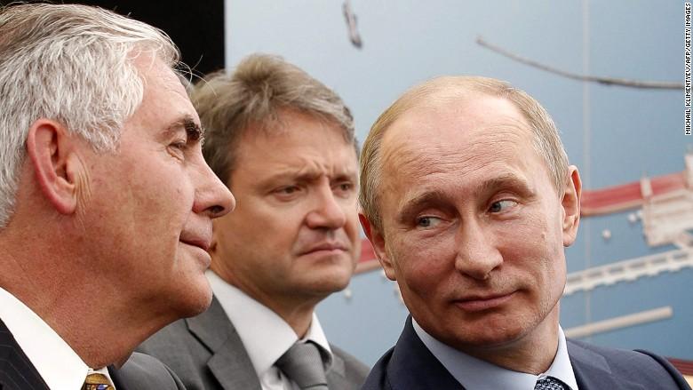 Tillerson Russia Putin Exxon