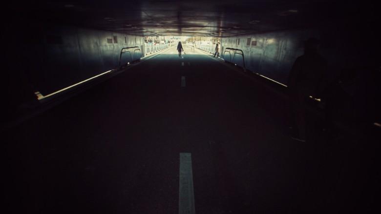 China elevated bus abandoned 2