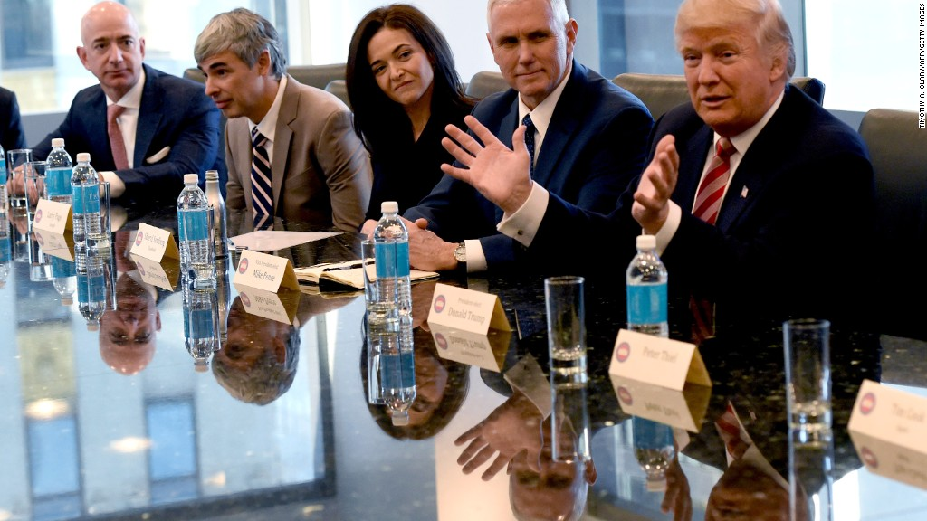 Trump meets with tech execs
