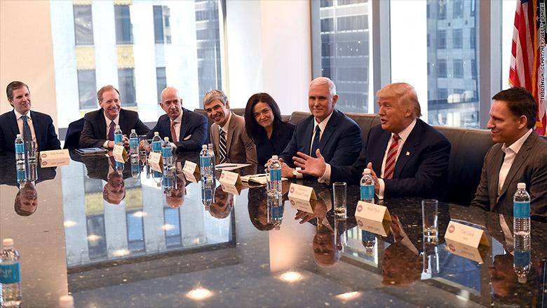 trump tech summit meeting