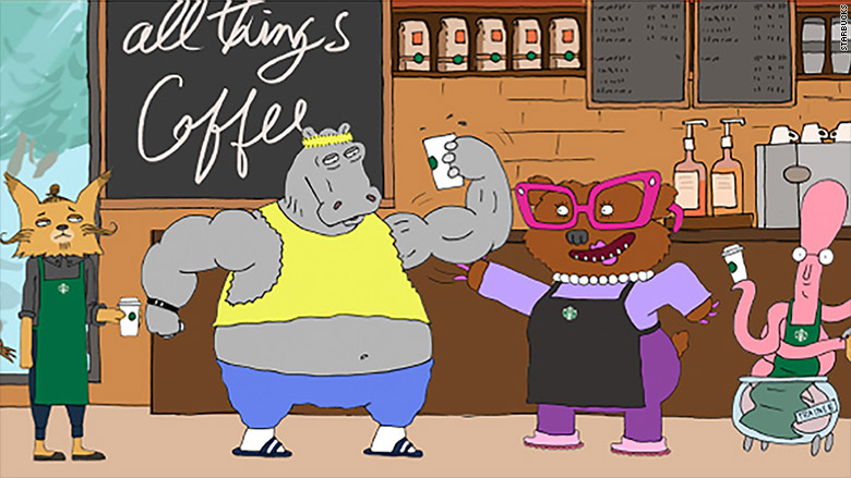 starbucks animated show