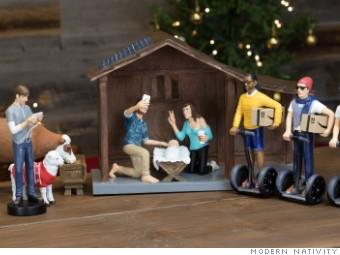 463f7f4764b3 The Modern Nativity Set depicts a