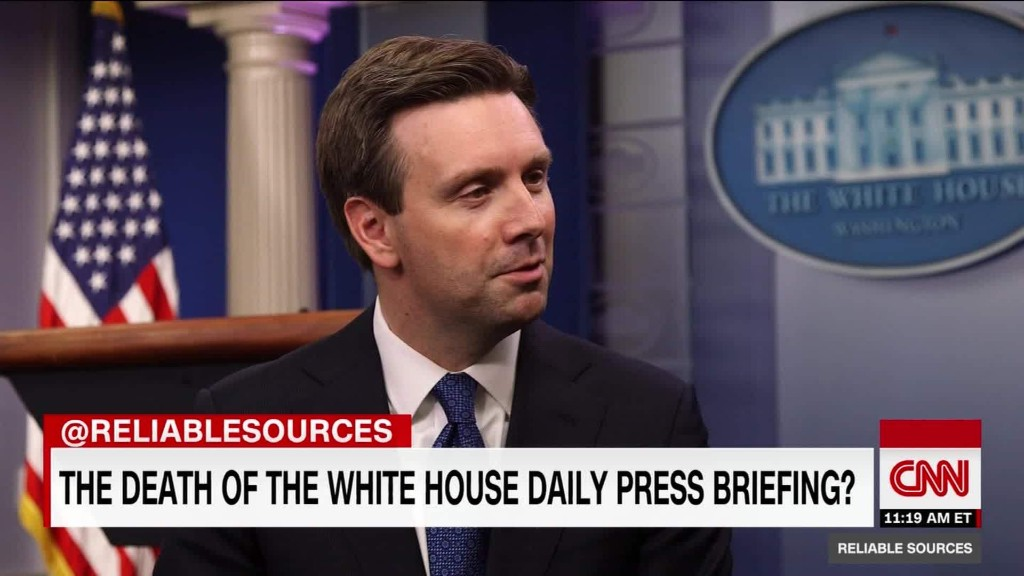 Outgoing press secretary talks Trump and access