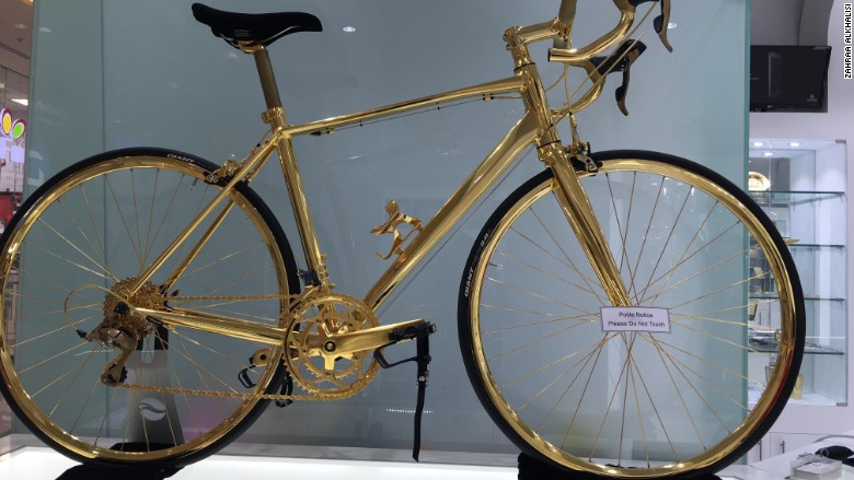 gold plated racing bike