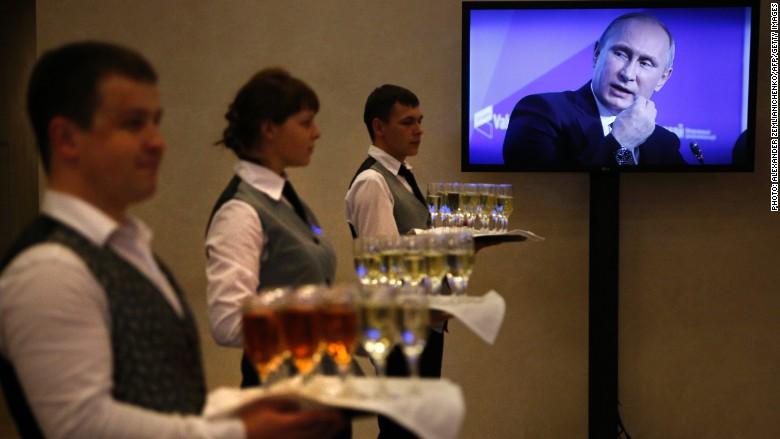 Putin drinking