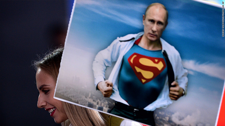 putin superman picture
