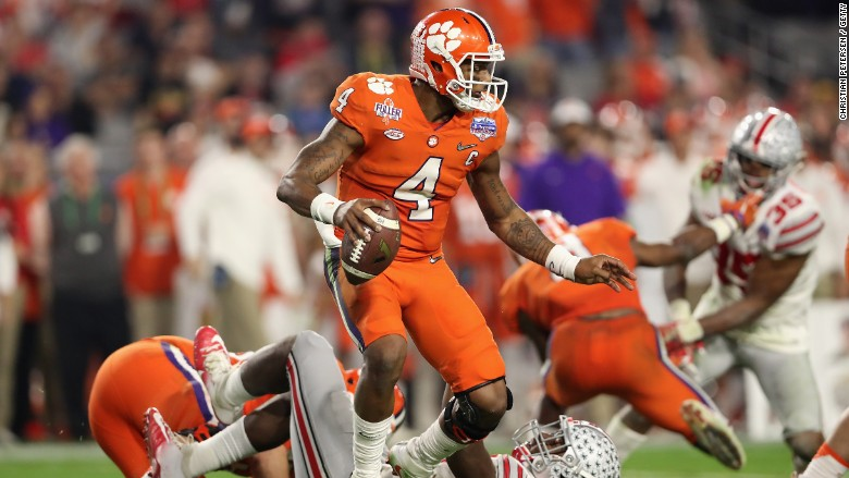 football covered team lose -- Clemson