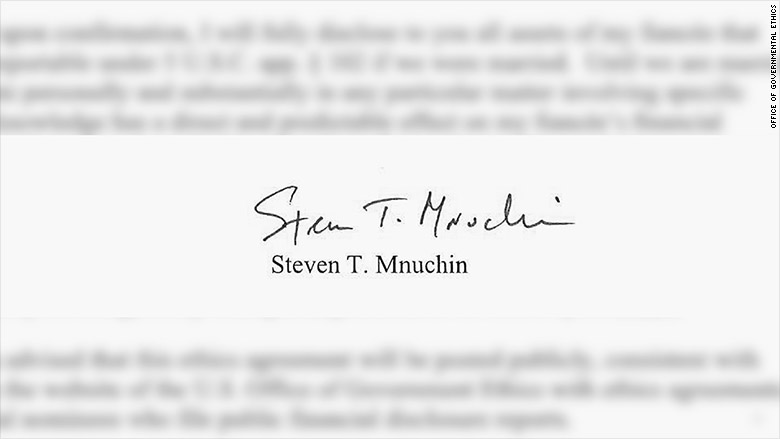 mnuchin new signature