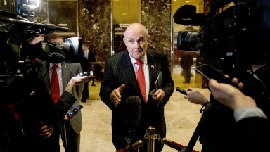 Does Giuliani have a press strategy?