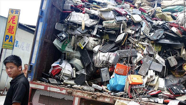e waste asia trash increase 2
