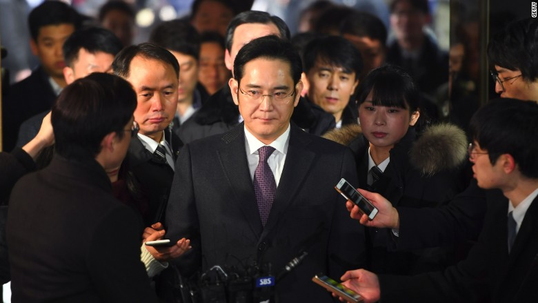 Samsung heir Lee Jae Yong special proseuctor office arrival
