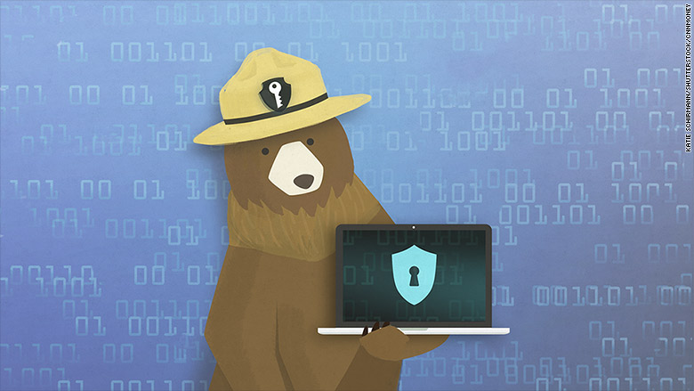 cyber security smokey bear