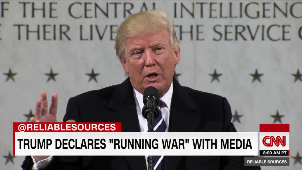 "Trump says he is at ""war with the media"""