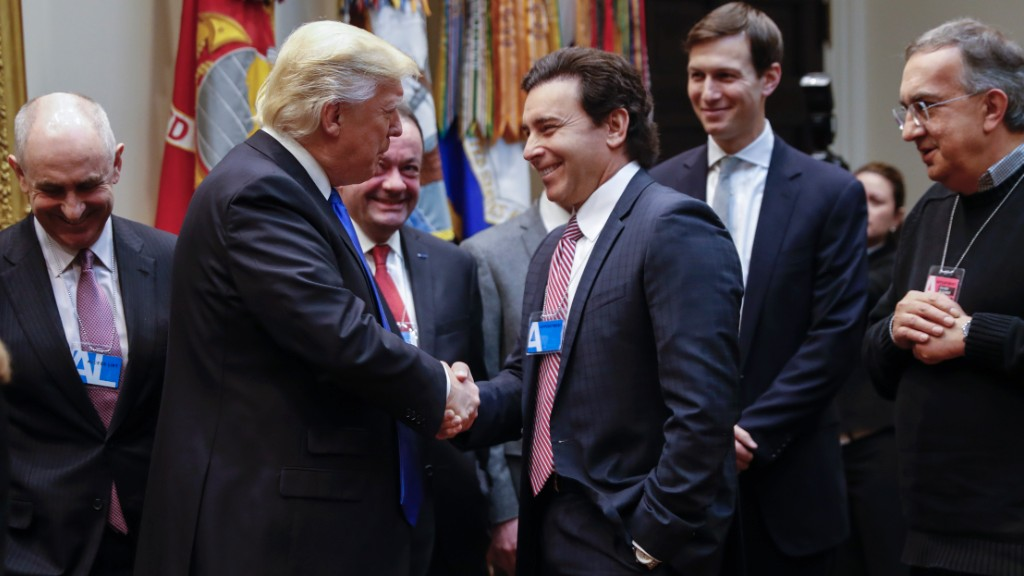 Trump meets with CEOs of GM, Ford, Fiat Chrysler