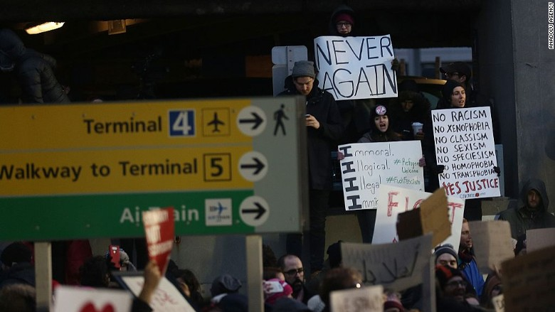 JFK Airport protest