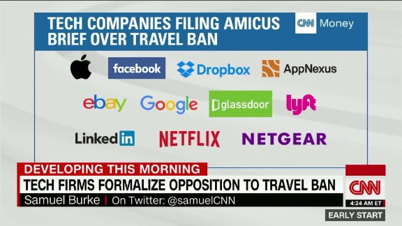 Tech companies condemn Trump's revised travel ban