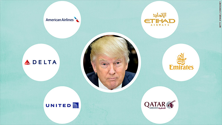 american carriers gulf carriers trump