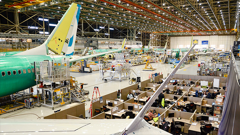 Resultado de imagen para Boeing 737 MAX assembly lilne