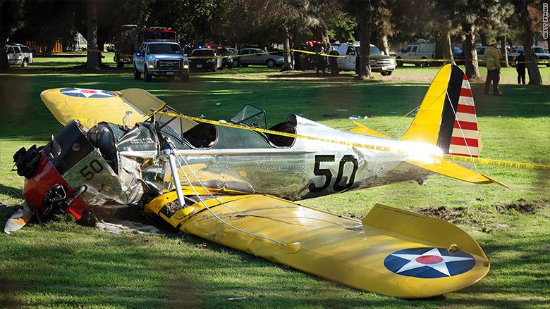 harrison ford crash