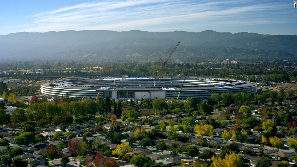 Apple unveils new 'spaceship' headquarters