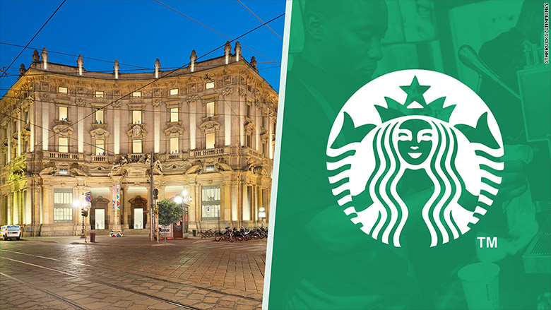 Starbucks is coming to the home of the espresso for Starbucks italie