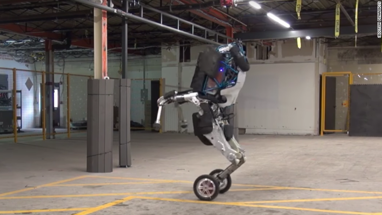 Google Robot Revealed Boston Dynamics Handle Has Wheels For Feet