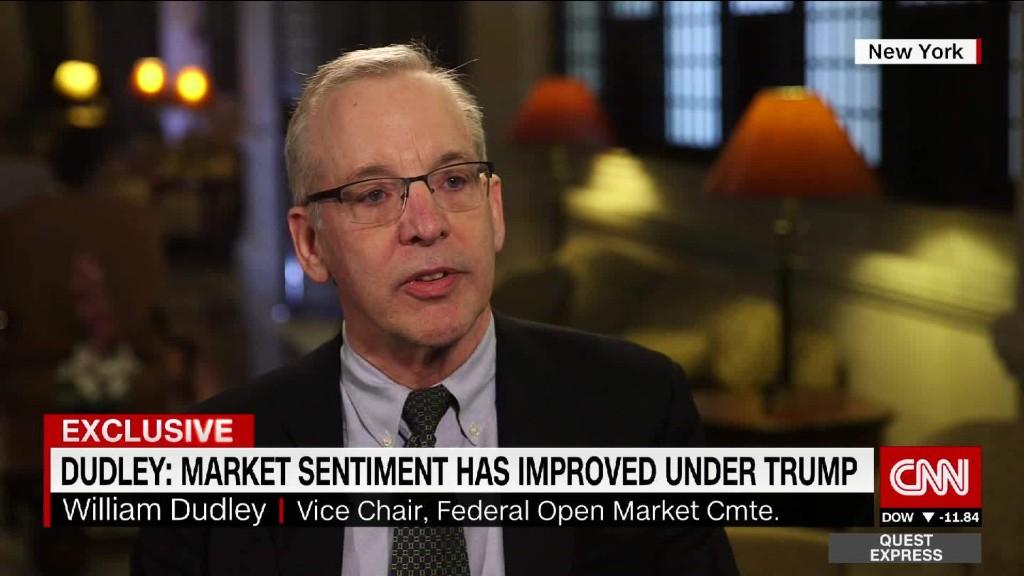 NY Fed president: Market sentiment improved under Trump