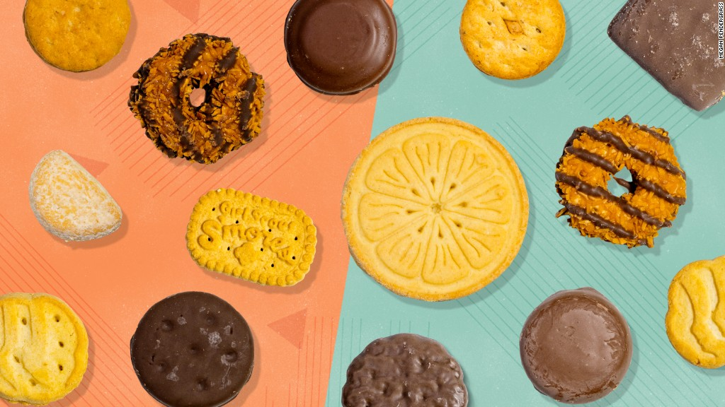 Girl Scout cookie taste test