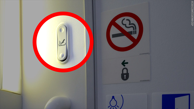 airplane bathroom ashtray