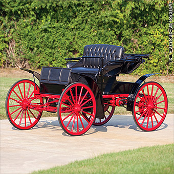 This 1909 Sears Model H Motor Buggy sold for $24,750 at an RM Sotheby's auction in 2015.
