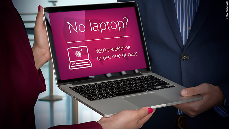 qatar airways loaner laptops