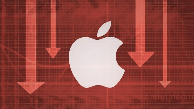 Apple shares fall 4% into correction territory
