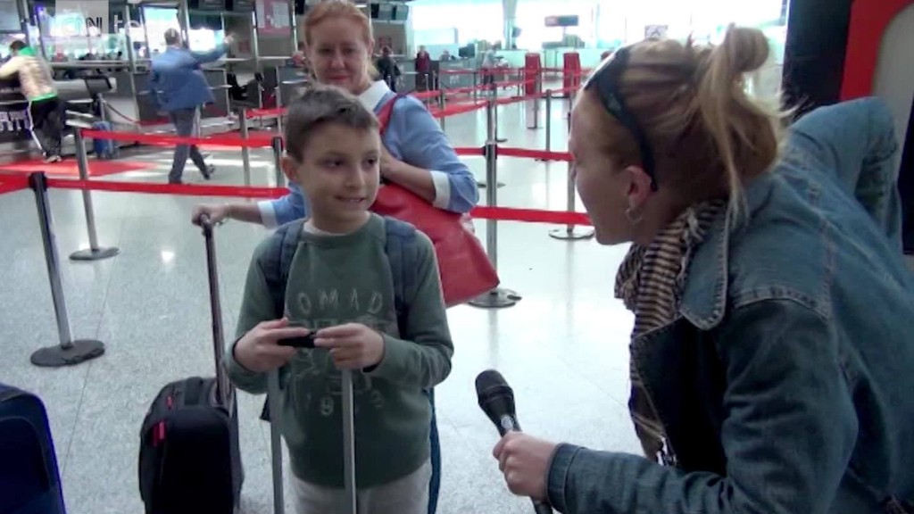 Passengers react to the laptop ban