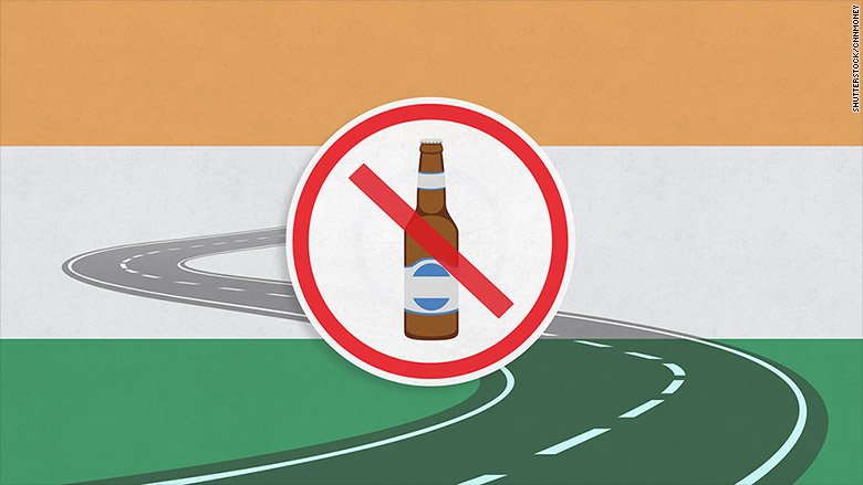 alcohol banned india