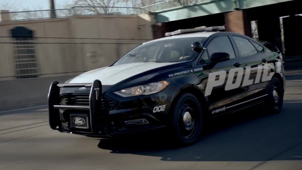 Ford unveils hybrid police car built for high-speed chases