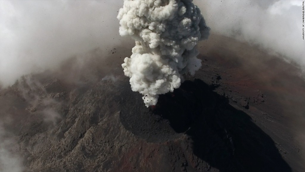 It's lit! These drones film erupting volcanoes