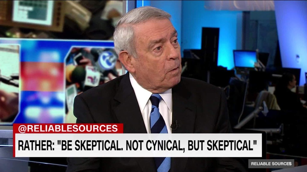 Dan Rather's concern about airstrike coverage