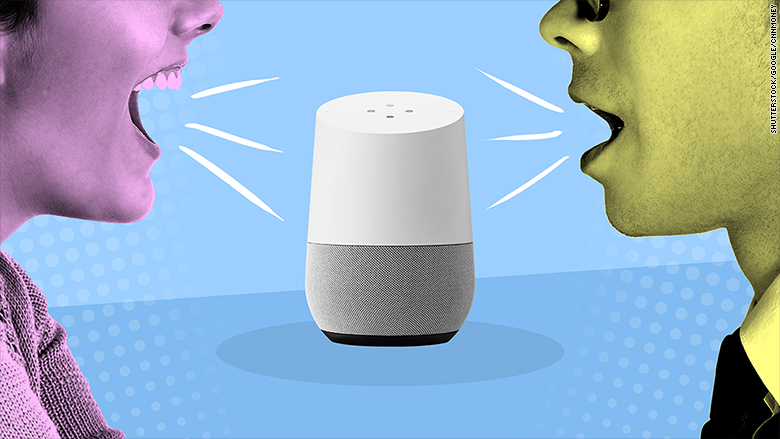google home voices