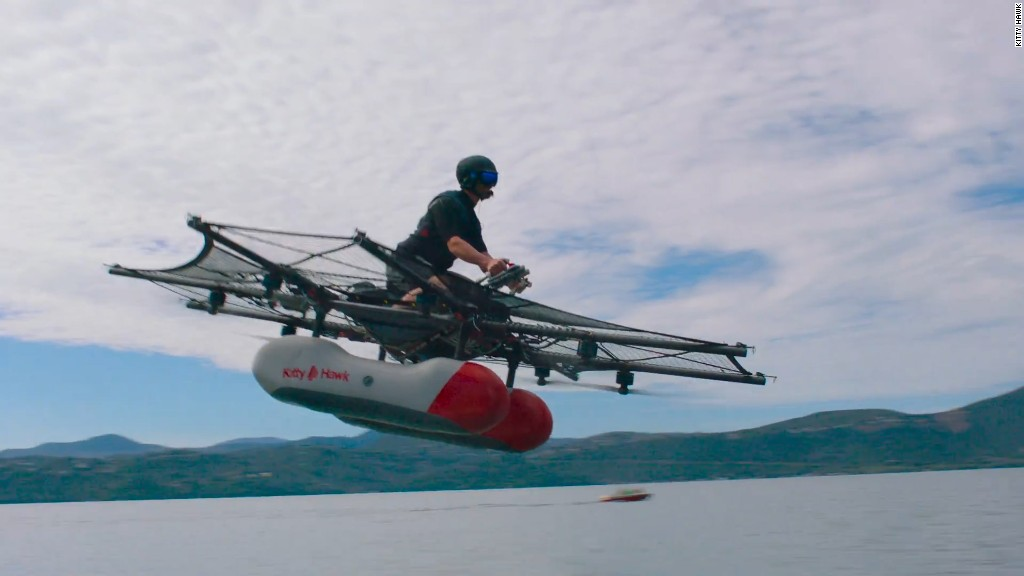 See Google co-founder Larry Page's 'flying car' in action