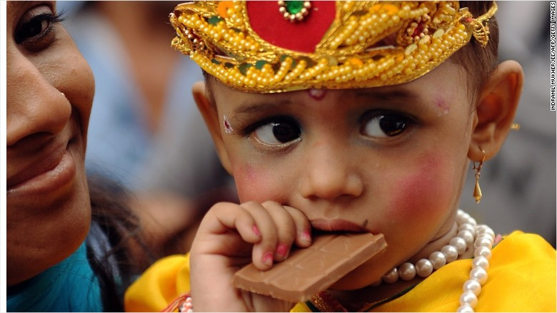 india chocolate child