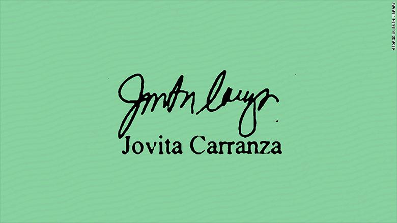 carranza signature