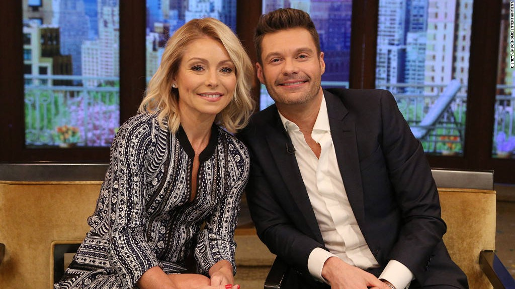 Ryan Seacrest is Kelly Ripa's new co-host