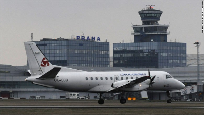 czech airlines plane aviation travel