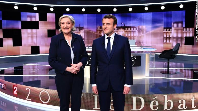 Le Pen Macron debate