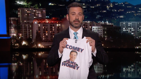 Late night hosts respond to Trump's firing of FBI chief James Comey