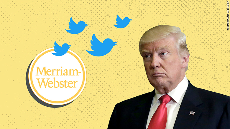 merriam webster trump twitter