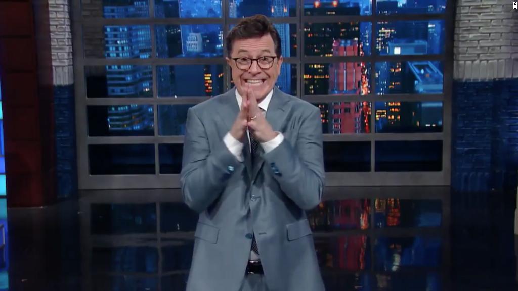 Colbert responds to Trump's 'no talent' insult