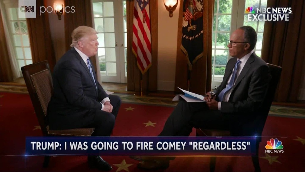 Trump's NBC interview in 2 minutes
